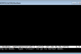 GIT相关命令及git bush中进入vim编辑器后相关命令