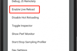 React Native开启实时重载(Enable live Reload)